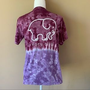 Ivory Ella small purple tie dye elephant shirt top